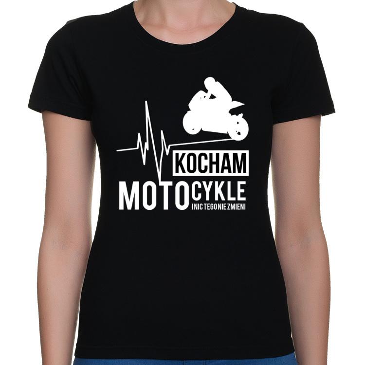 66752419e Kocham motocykle i nic tego nie zmieni - Damska koszulka motocyklowa ...